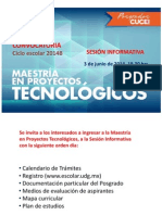 Sesión Informativa Maestría 2014B