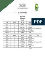 VI Class Program Format