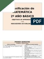Planificacion Anual Con OA 2º BASICO Mat