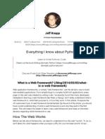What is a Web Framework?