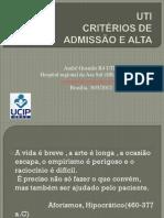 Admissao e Alta Em Uti-2012