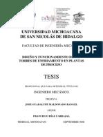 DISEÑO Y FUNCIONMIENTO DE LAS TORRES DE ENFRIAMIENTO ENPLANTAs DE PROC