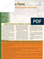 Sportsmen Newsletter Fall 2009