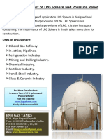 Pressure Test of LPG Sphere and Pressure Relief