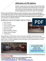 Re-qualification of LPG Sphere