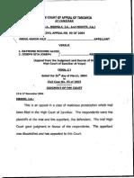 Abdul Karim Haji vs. Raymond (Malicious Prosecution)