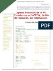 Programa Proton IDE de Un PIC Encoder Con Un 16F876A, 16 Bits de Resolución, Por Interrupción