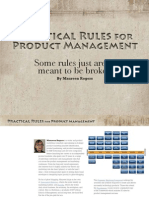Practical Rules for Product Management