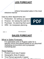 4.Sales Forecast