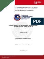 Rodriguez Cesar Estudio Pre Factibilidad Produccion Exportacion Aceite Palta Anexos