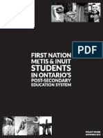 First Nations Metis and Inuit Students in Ontario's PSE November 2012