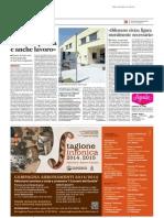 """""""Pesaro Studi, un'eccellenza che crea qualità e anche lavoro"""" - Il Messaggero del 5 novembre 2014"""