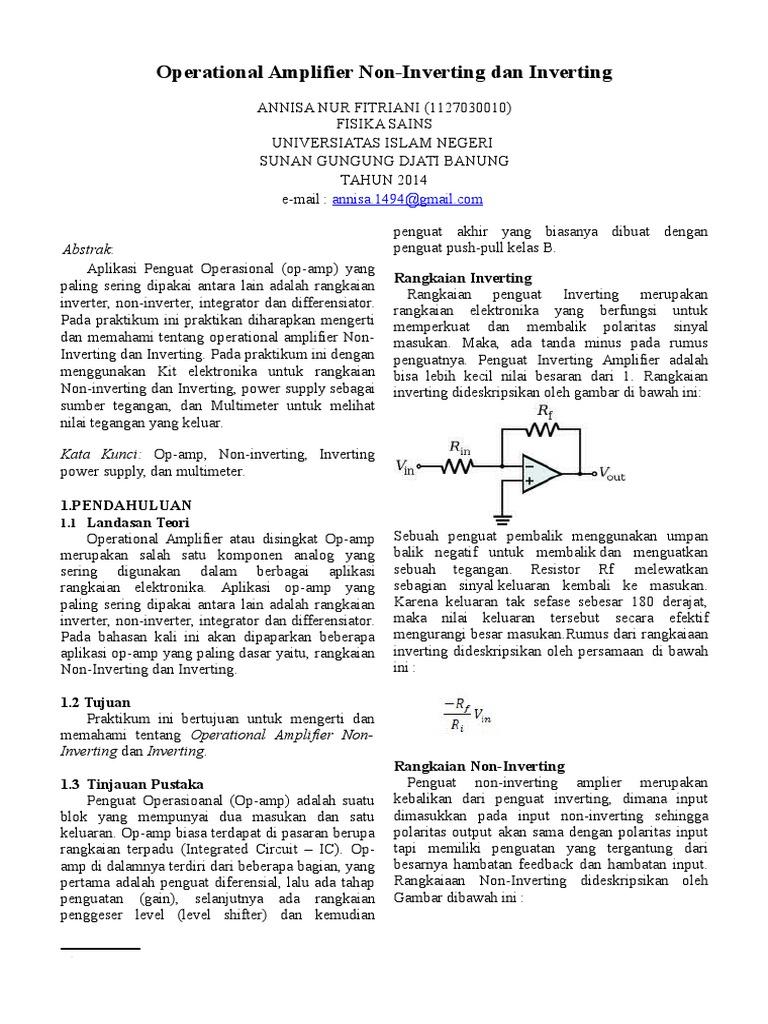 Laporan Modul 3 Op Amp Non Inverting Dan Inverting 1