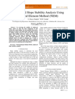 Reinforced Slope Stability Analysis Using Natural Element Method (NEM) Ghazavi Baghini