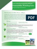 Balboa Park Cultural Partnership 2010 Sustainability Workshop Series Kick-off Forum