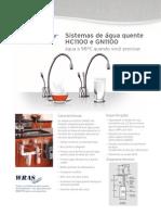 Sistemas de água quente HC1100 e GN1100