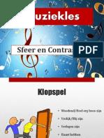 Powerpoint Bij de Les ''Sfeer en Contrasten''