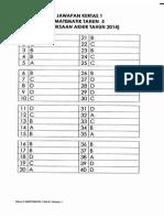Final Exam 2014 - Tahun 5 - SKEMA
