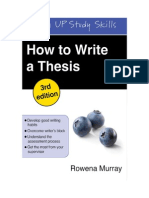 How to Write a Thesis.