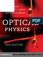 Optical Physics (4ed., CUP, 2010)