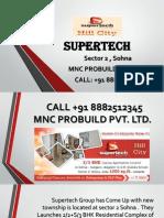 Booking Procedure & Maximum Discount of Supertech hill Town Sector 2 Sohna