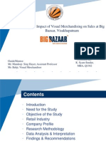 A Study on Impact of Visual Merchandising on Sales at BB-Vizag