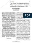 An Analysis of the Factors Affecting the Success of Environmental Policy Implementation