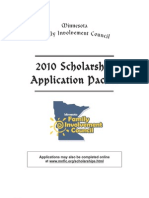 FIC Scholarship Application Packet 2010