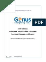 Func Spec -Asset Report