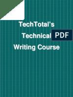 Technical Writing Training Syllabus