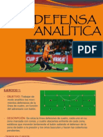 Defensa Analítica Futbol