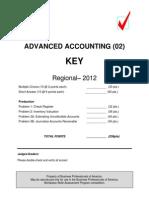 02-Final-Advanced Accounting Regional 2012 Key