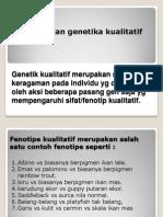 Kualitatif Fenotipe Genetika Kelompok 2