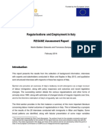 Regularisations and Employment in Italy 2014