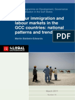 Labour immigration and labour markets in the GCC countries