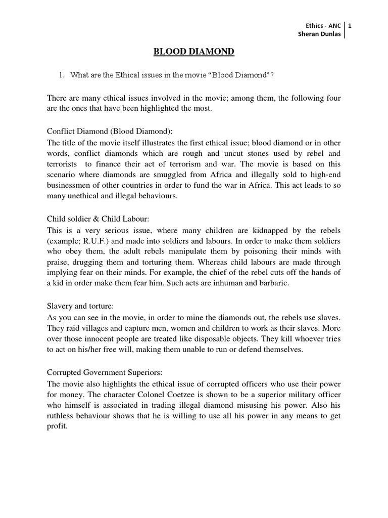 blood diamonds essay the best images about tok essay nov q