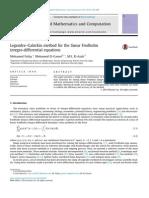 Legendre–Galerkin Method for the Linear Fredholm