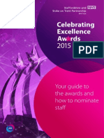 Celebrating Excellence Awards 2015 - Our Guide to The Awards and How to Nominate Staff