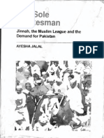 Ayesha Jalal the Sole Spokesman Jinnah, The Muslim League and the Demand for Pakistan Cambridge South Asian Studies 1994