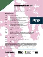 Program Delaktighetskonferensen 2014