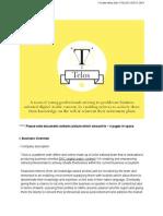 """Telos"" Reinventing Retirement via innovative publishing methods - Executive Summery"