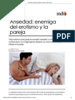 Ansiedad_ Enemiga Del Erotismo y La Pareja - MDZ Online