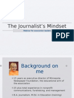 Journalist's Mindset Webinar Rev