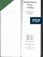Samuel D. Warren and Louis D. Brandeis. in. Ferdinand D. Schoeman. Philosophical Dimension of Privacy