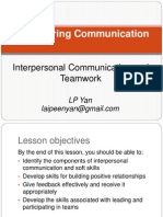 Lecture 4 Interpersonal Comm and Teamwork --S