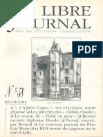 Libre Journal de la France Courtoise N°058