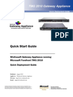 Winfrasoft TMG Gateway Appliance Quick Start Guide 1.1