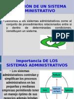 importancia de los sistemas administrativos