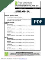 Kvpy 2014 Paper Sa