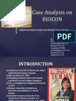 Case Analysis on BIOCON